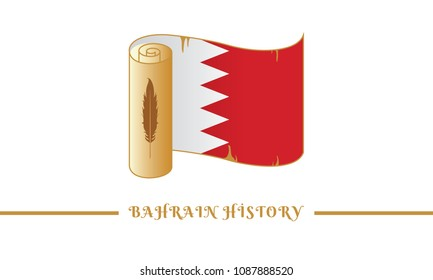 bahrain flag and bahrain history