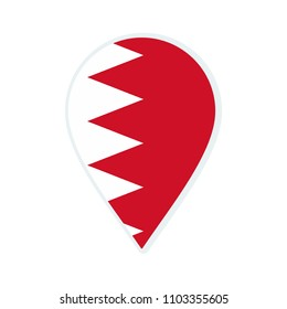 Bahrain flag icon. Travel icon. Travel destination of Bahrain. Flag badge.