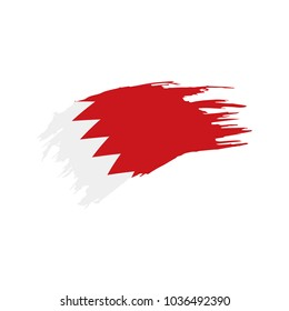 Bahrain flag, vector illustration