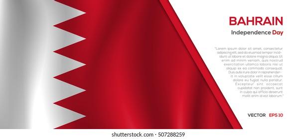 Bahrain flag waving vector illustration