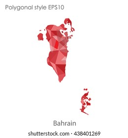 Bahrain in geometric polygonal style.Abstract gems triangle,modern design background. Vector illustration EPS10
