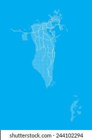 Bahrain Map, Vector