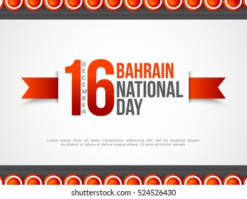 Bahrain National Day Background.National Day Poster or Banner.