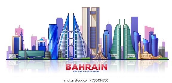 Bahrain skyline. Vector illustration