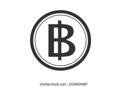 baht currency icon vector illustration