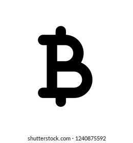 Baht icon,vector illustration. Flat design style. vector baht icon illustration isolated on White background, baht icon Eps10. baht icons graphic design vector symbols.