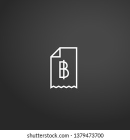 Baht linear vector icon. Modern outline Baht logo concept from Ecommerce Element Collection collection. Suitable for use on web apps, mobile apps and print media.