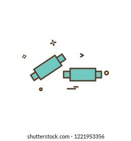 Bails cricket sport wicket icon vector design