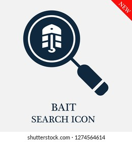 Bait search icon. Editable Bait search icon for web or mobile.