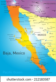 Baja California Sur Map Vector Images, Stock Photos & Vectors ...