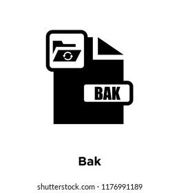 Bak icon vector isolated on white background, logo concept of Bak sign on transparent background, filled black symbol