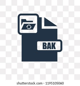 Bak vector icon isolated on transparent background, Bak transparency concept can be used web and mobile