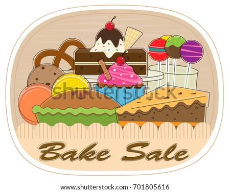 bake sale clipart assorted pastries bake stock vector royalty free rh shutterstock com bake sale clipart free bake sale clip art free