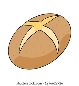 Baked jacket potatoes. Vector illustration Isolated.