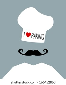 baker wearing i love baking hat