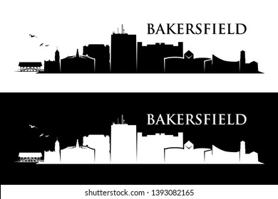 Bakersfield skyline - California, United States of America, USA - vector illustration