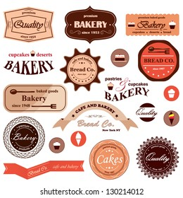 Bakery Badges And Ribbons - Vector Illustration, Graphic Design Editable For Your Design
