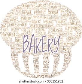 Bakery Concept Word Cloud