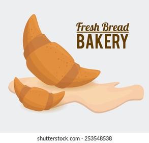 Bakery design over white background, vector illustration.