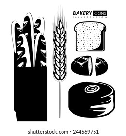 Bakery design white background, vector illustration.