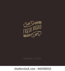 Bakery hipster logo.