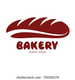 Bakery and hot bread logo design vector template. Vintage style badges and labels design concept for confectionery. Vector illustration isolated on a white background
