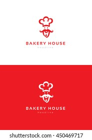 Bakery house logo template.