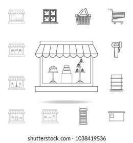 bakery icon. Detailed set of shops and hypermarket icons. Premium quality graphic design. One of the collection icons for websites, web design, mobile app on white background