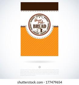 Bakery label vector design temlate