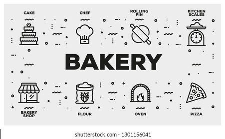 BAKERY LINE ICON SET