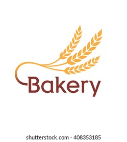 Bakery Logo Badge with wheat