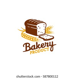 Bakery logo, emblem and label. Bread logo