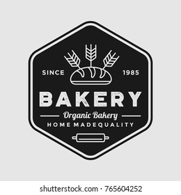 Bakery logo vintage emblem premium quality vector isolated design illustration