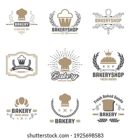 Bakery logotypes set. Retro Bakery labels, logos, badges, icons, objects and elements. Fit to your restaurant or cafe