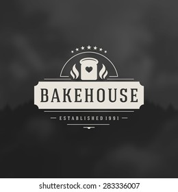 Bakery Shop Logo Design Element in Vintage Style for Logotype, Label, Badge and other design. Bread retro vector illustration.
