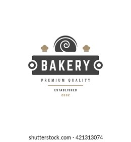 Bakery Shop Logo Template. Vector object and Icons for Pastry Food Label or Badge, Bakery Food Logotype Design, Emblem Graphics.