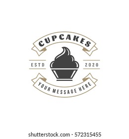 Bakery Shop Logo Template. Vector object and Icon for Pastry Food Label or Badge, Bakery Food Logotype Design, Emblems Graphics.