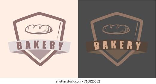 Bakery store badge logo