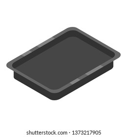 Bakery tray icon. Isometric of bakery tray vector icon for web design isolated on white background