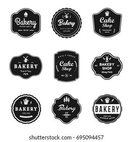 Bakery Vintage Badge And Labels