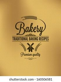 bakery vintage bread label background