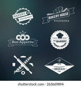 Bakery vintage logos and icons