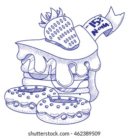 Baking logo. Cake and donuts. Sweets.
