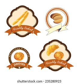 Baking logo set, vector illustration.
