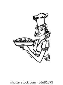 Baking Queen - Retro Clip Art
