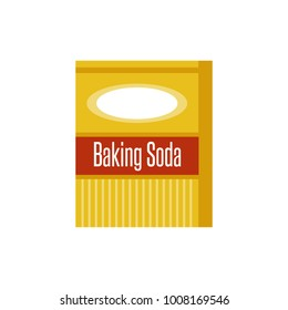 Baking Soda Box. Icon isolated. Vector illustration flat design