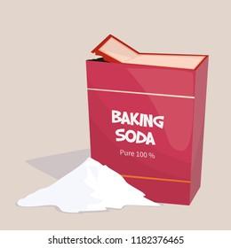 Baking soda cartoon