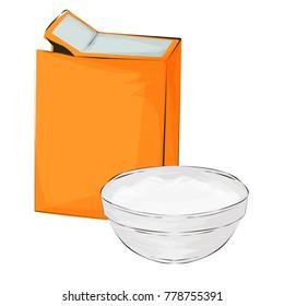 Baking soda vector illustration on a white background