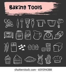 baking tools doodle icon,bakery
