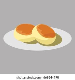 bakpia bread vector illustration